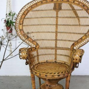 Peacock chair vintage