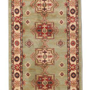 Perzisch tapijt loper groen vintage bruiloft huur