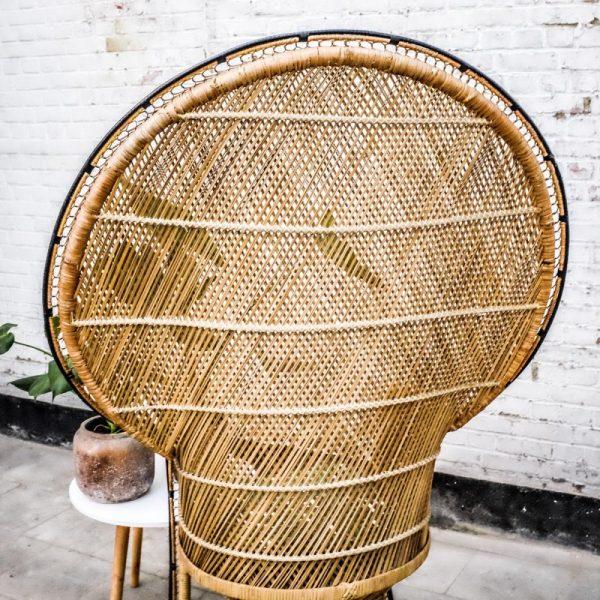 verhuur bruiloft vintage peacock stoel pamela