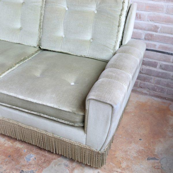 vintage velvet bankje groen 02