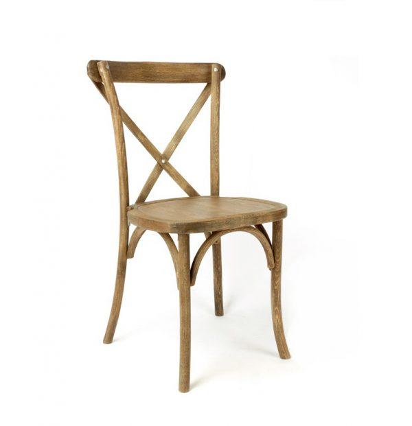houten crossback stoel verhuur bruiloft event wedding chair