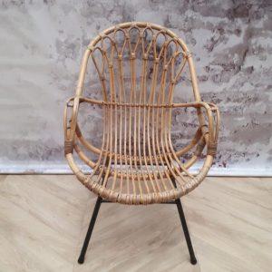 rotan stoel vintage