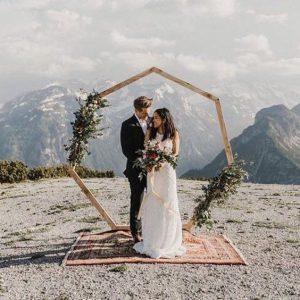 Backdrop hexagoon verhuur bruiloft