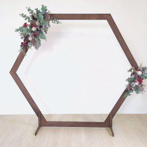 Backdrop hexagon hout donker