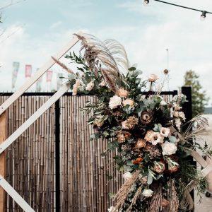backdrop prieel hout ruit