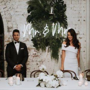 Mrs and MRs bruiloft neon sign verhuur bruiloft