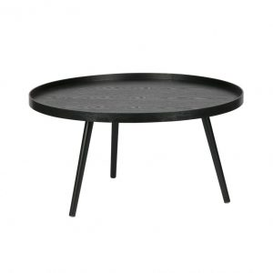 Salontafel zwart hout huur mesa 78 cm