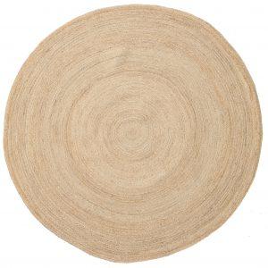 Vloerkleed jute sisal tapijt rond 200 cm huren bruiloft