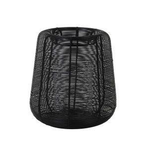 Modern Windlicht draad Alexia zwart 29 cm