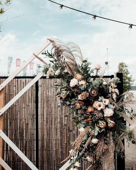 backdrop ruit met bloemen huur velvet green storiesbyjosan