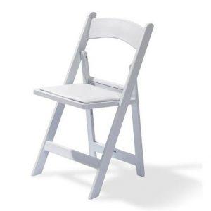 klapstoel wit huren voor je bruiloft of event