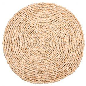 Onderbord placemat huren naturel riet 38 cm
