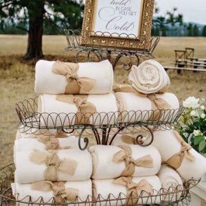 Fleece plaid dekentje bruiloft huur
