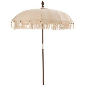 parasol boho beige bali creme verhuur event
